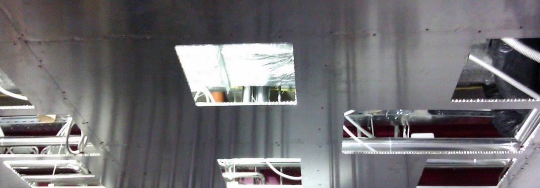 Controsoffitto modulare integrato lamiera alluminio Honeycomb grezzo – COD. CMI L.A.