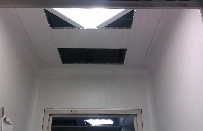 Controsoffitto modulare integrato lamiera alluminio - Controsoffitto portante ...